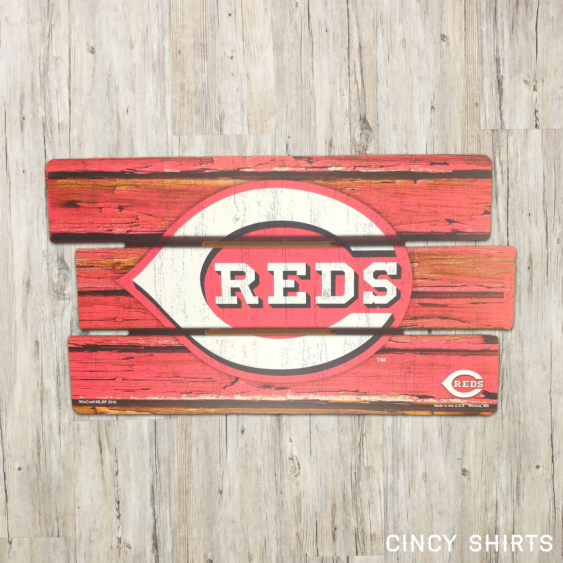 Cincinnati Reds Wood Sign