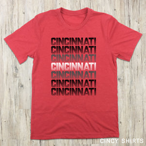 Red & Black Cincinnati Retro - Cincy Shirts