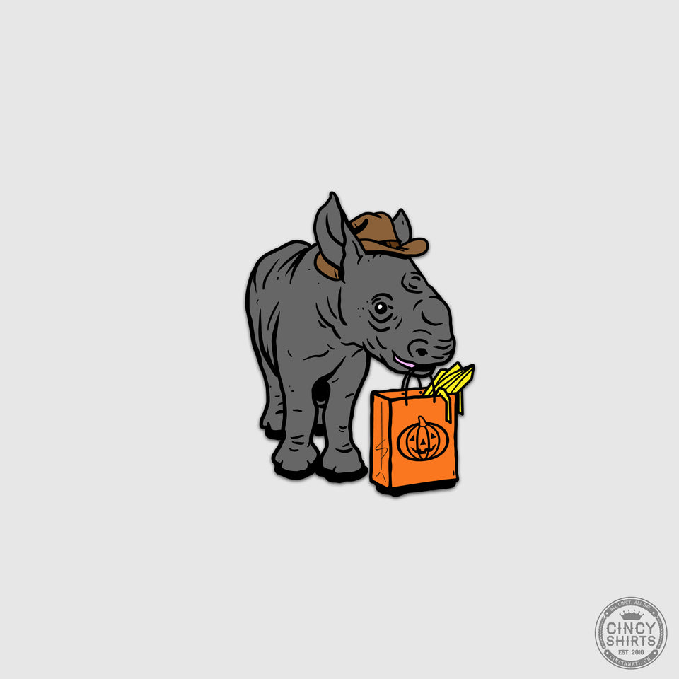Rhino HallZOOween Sticker - Cincy Shirts