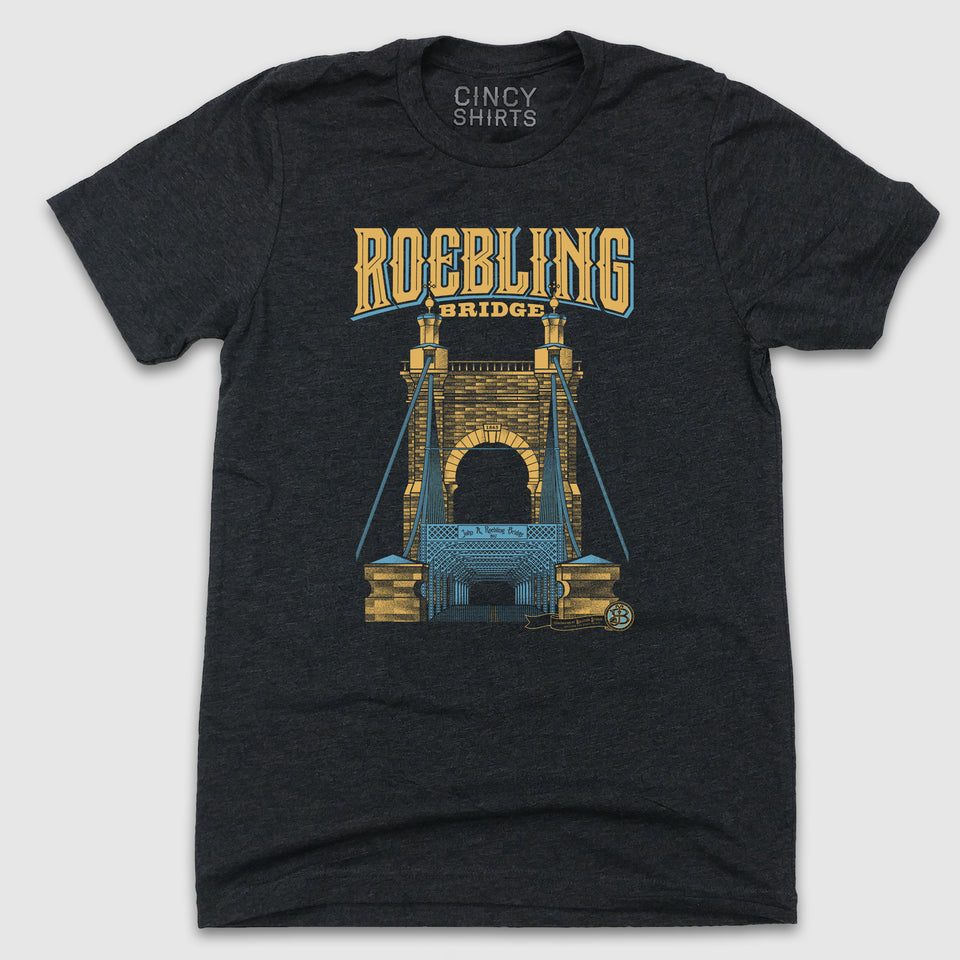 Roebling Bridge - Billiter Studio's Design - Cincy Shirts