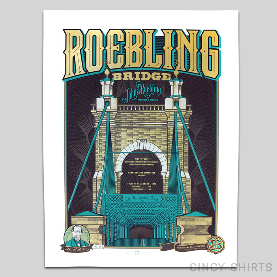 Roebling Bridge - Limited Edition Print - Cincy Shirts
