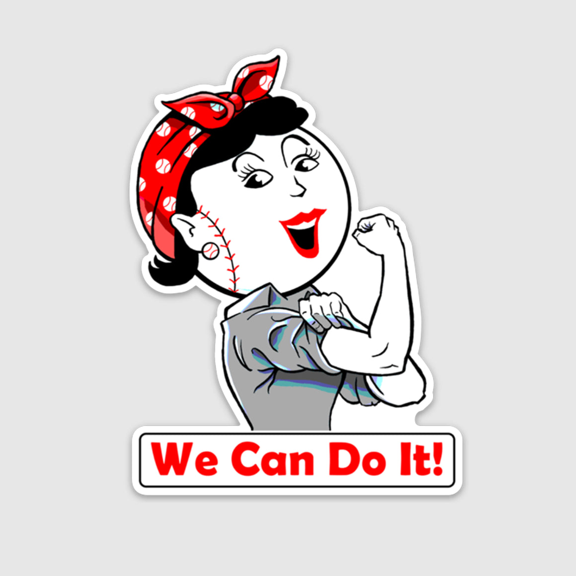 We Can Do It! - Rosie Sticker - Cincy Shirts