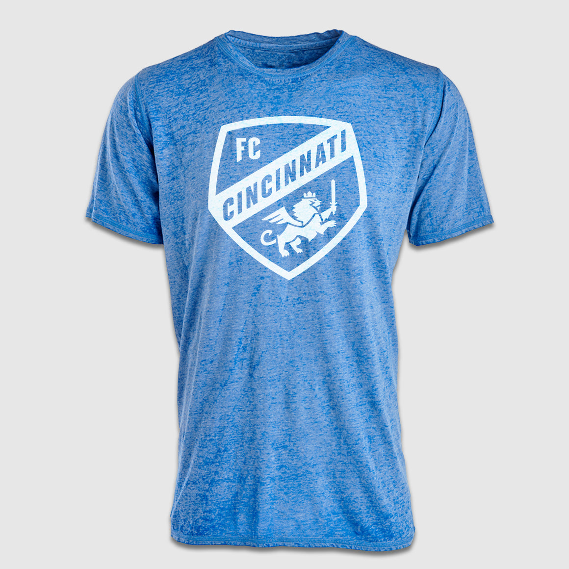 FC Cincinnati Primary Shield Unisex Distressed T-Shirt