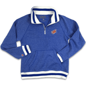 FC Cincinnati 1/4 Zip Peppered Fleece Pullover Blue