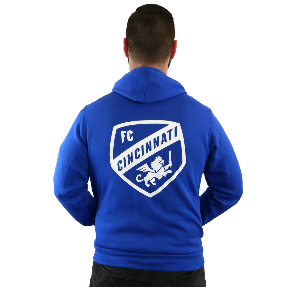 FC Cincinnati Royal Blue Zip-Up Hoodie - Cincy Shirts