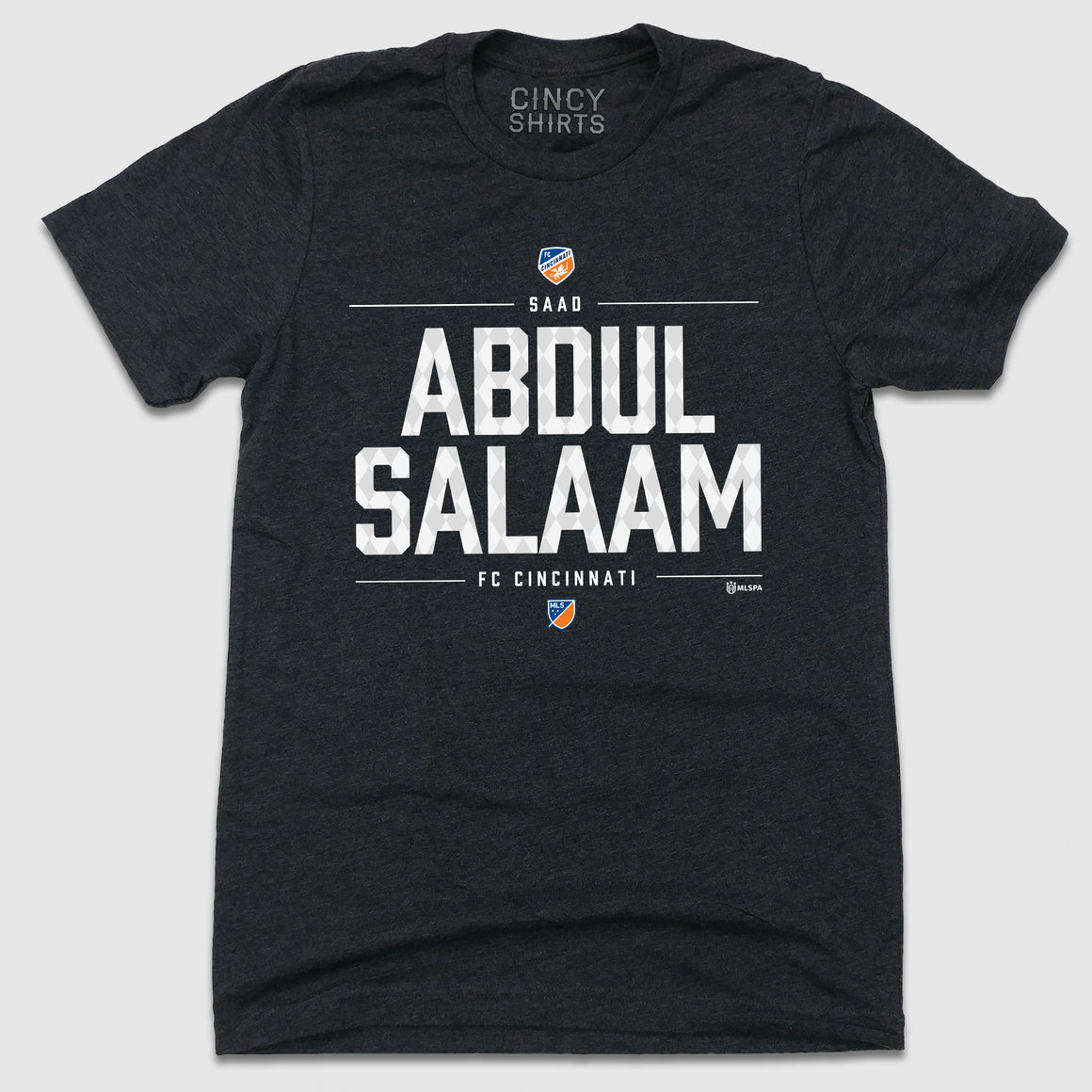 Official MLS Abdul Salaam FC Cincinnati Player Text Tee