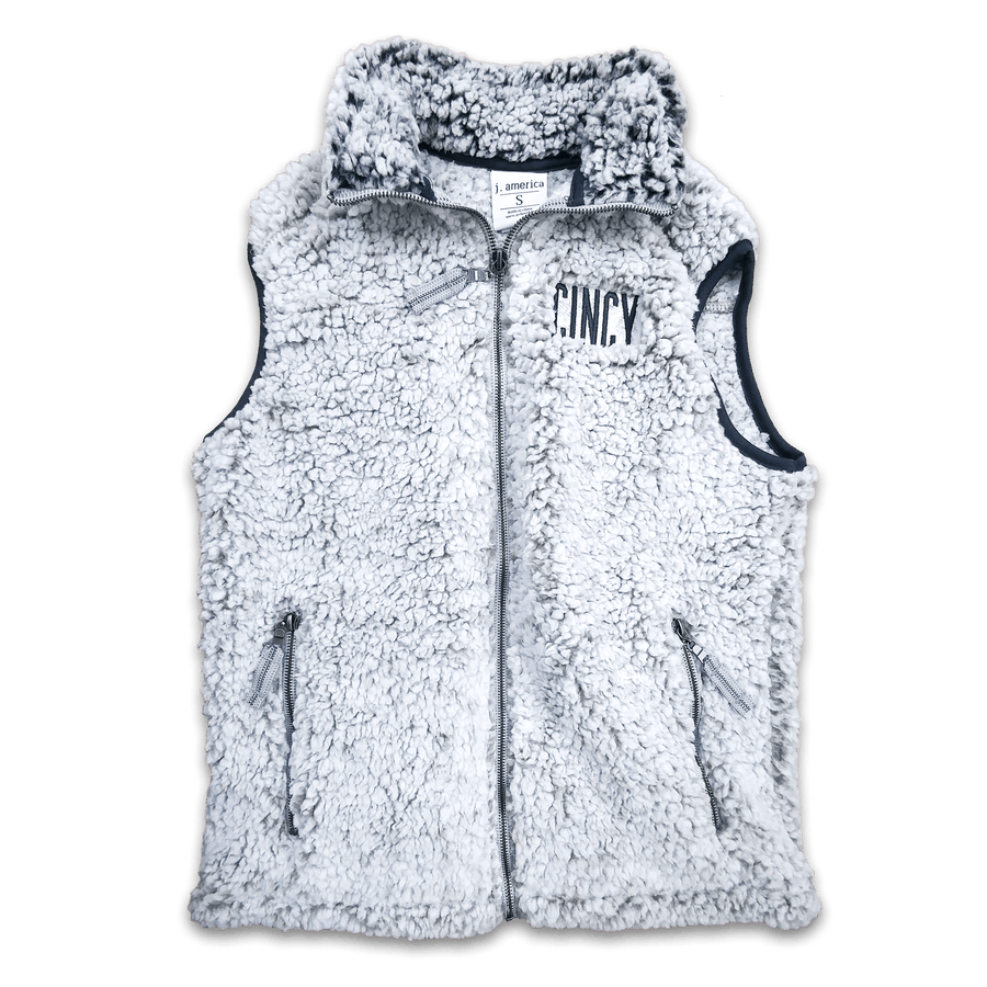CINCY Block Sherpa Vest