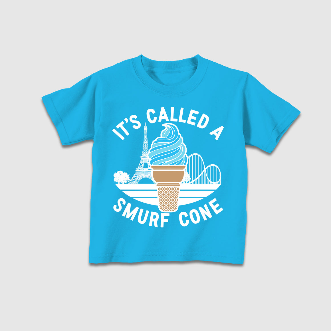 Smurf Cone - Neon Blue Youth Tee - Cincy Shirts
