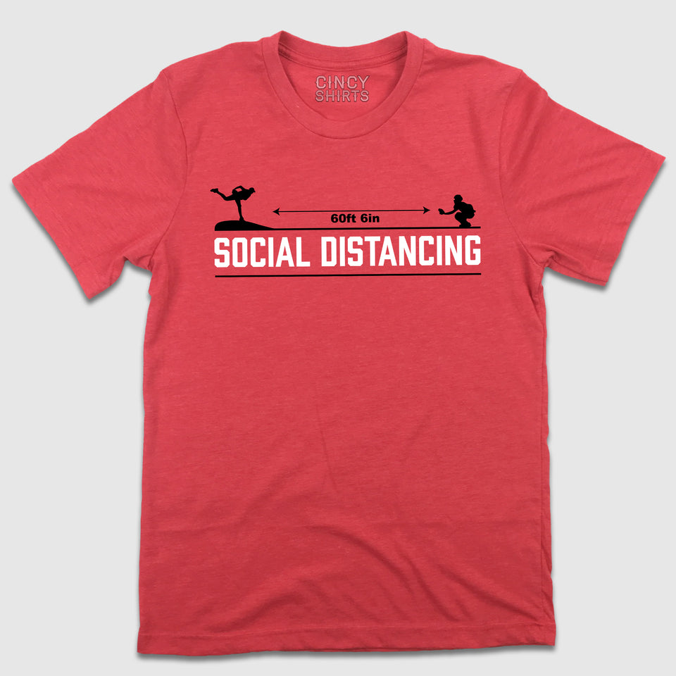 Social Distancing 60 Feet 6 Inches T-shirt