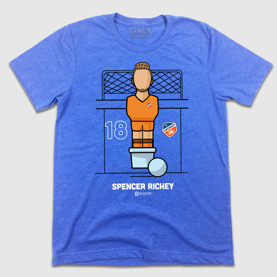 Official Spencer Richey Foosball Player Tee