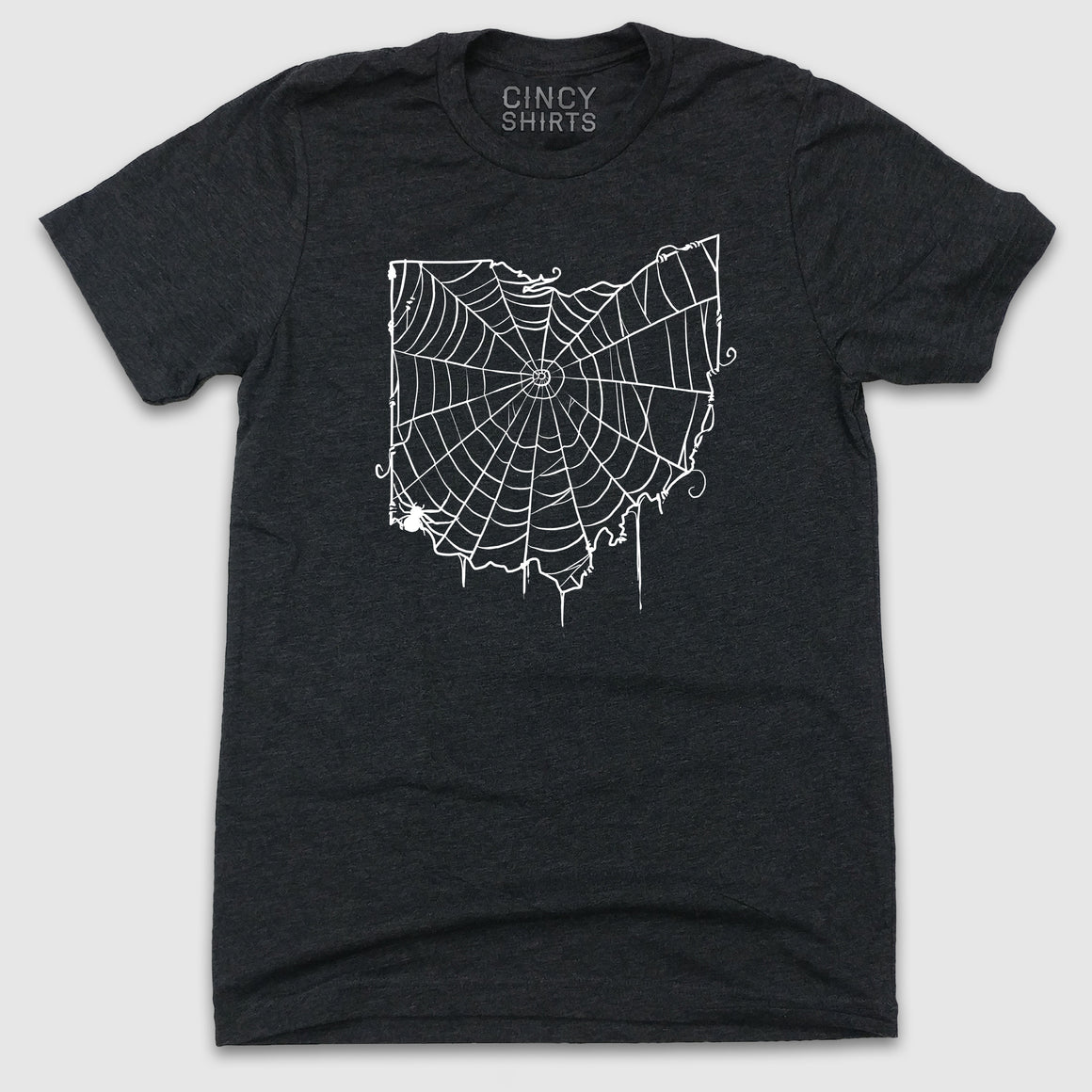 Cincinnati, Ohio Spiderweb - White Ink - Cincy Shirts