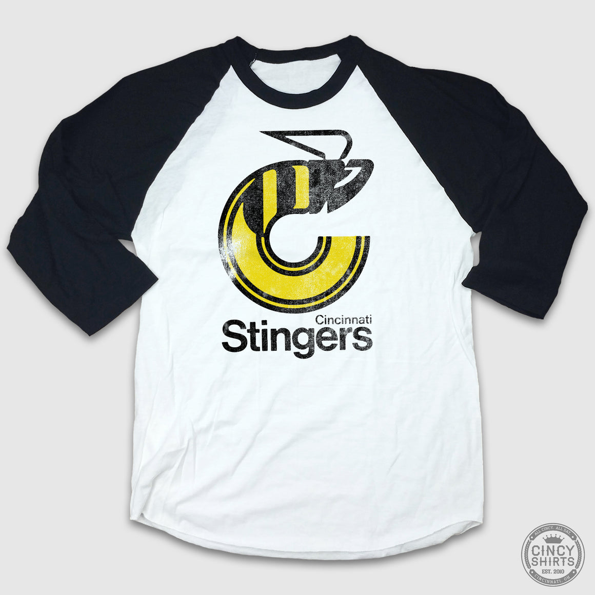 Cincinnati Stingers 3/4 Sleeve Raglan - Cincy Shirts
