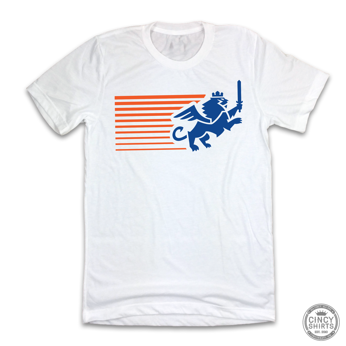 FC Cincinnati Streaking Lion - White Out Edition