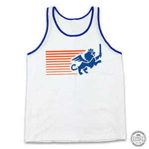 FC Cincinnati Streaking Lion - White Out Edition - Cincy Shirts