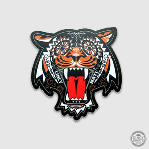 Sugar Skull Bengals Sticker - Cincy Shirts