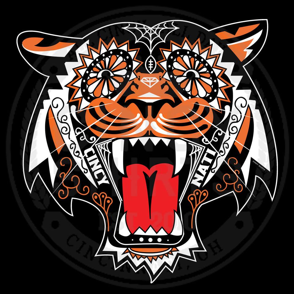 Tiger Sugar Skull - Cincy Shirts