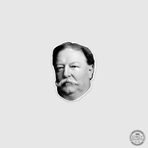 President Taft Head Sticker - Cincy Shirts