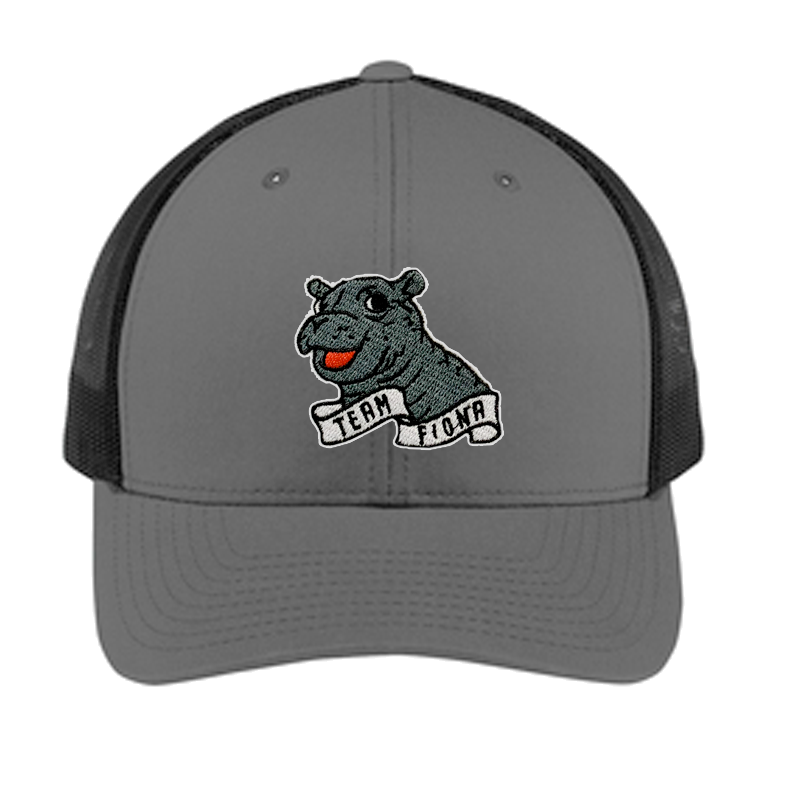 Fiona Black-Charcoal Two-Tone Trucker Hat - Cincy Shirts