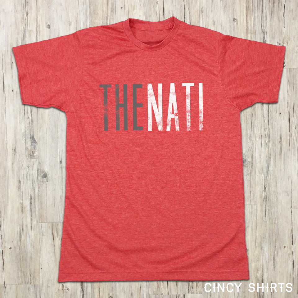 The Nati - Silver & White Logo - Cincy Shirts