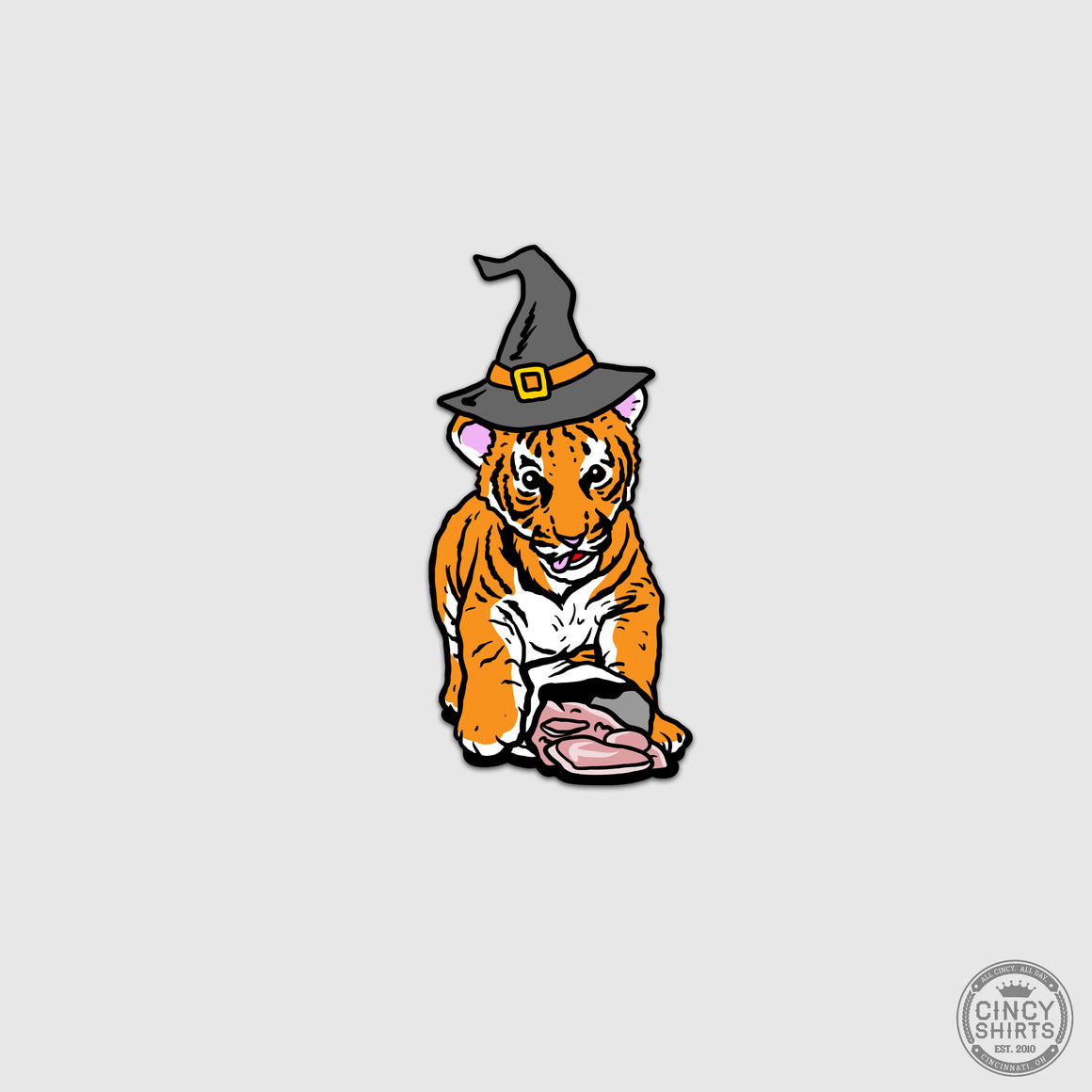 Tiger HallZOOween Sticker - Cincy Shirts