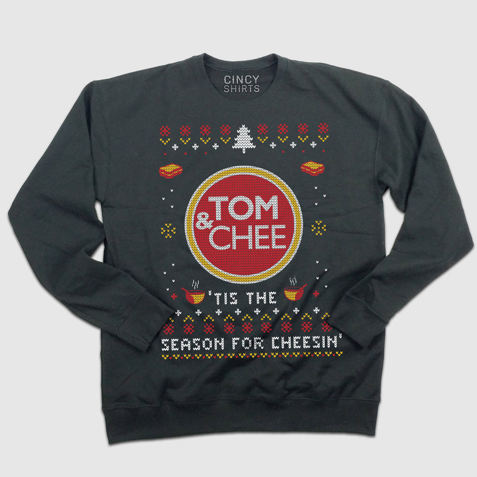Tom & Chee Ugly Christmas Sweatshirt - Cincy Shirts