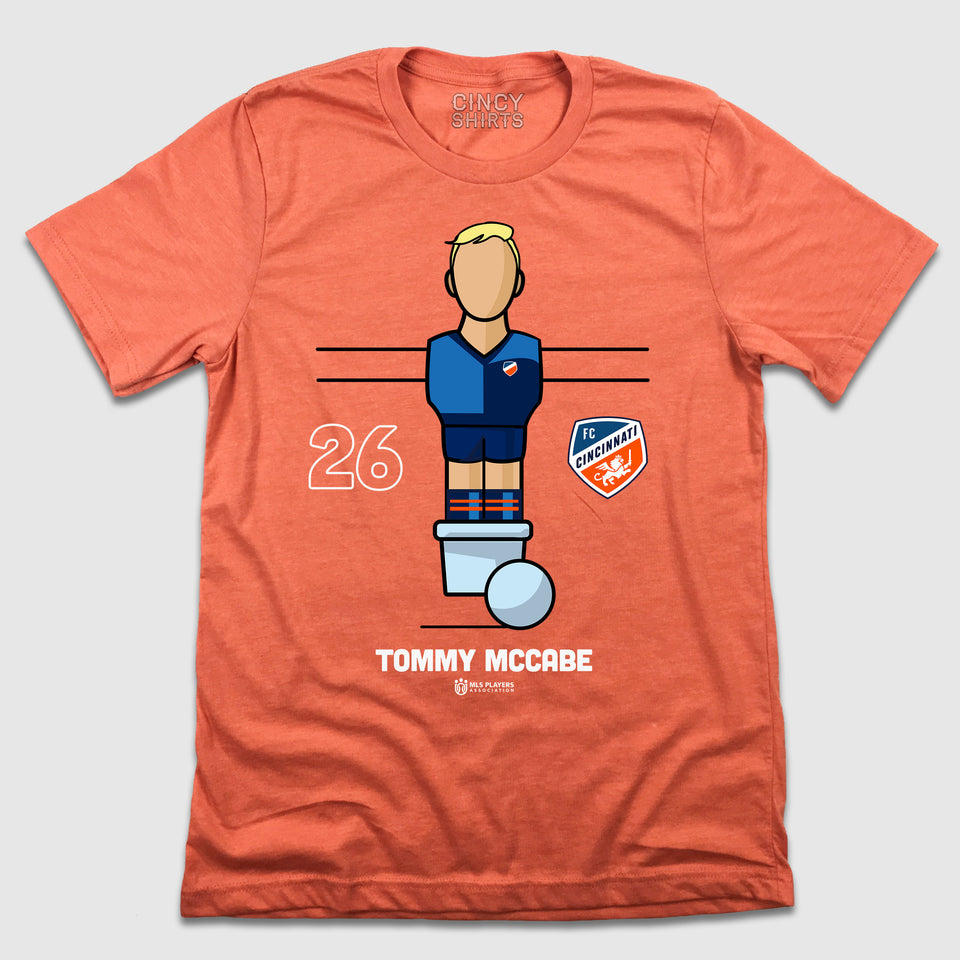 Official Tommy McCabe Foosball Player Tee - Cincy Shirts