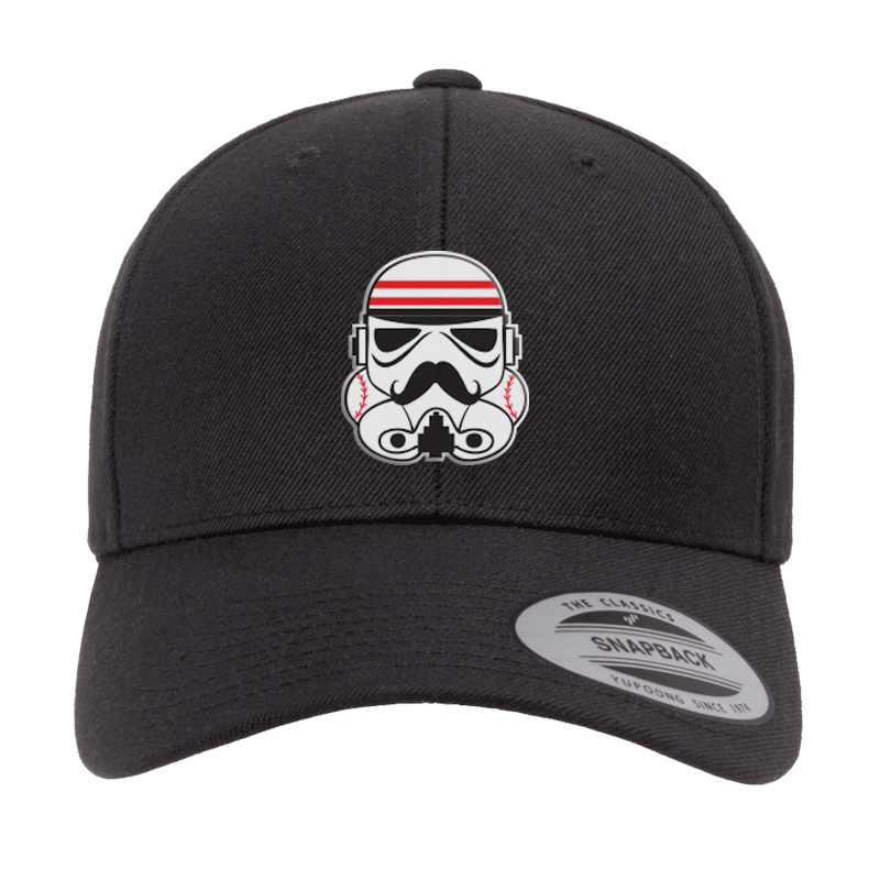 Redlegs Trooper Curved Bill Snapback Hat - Black - Cincy Shirts