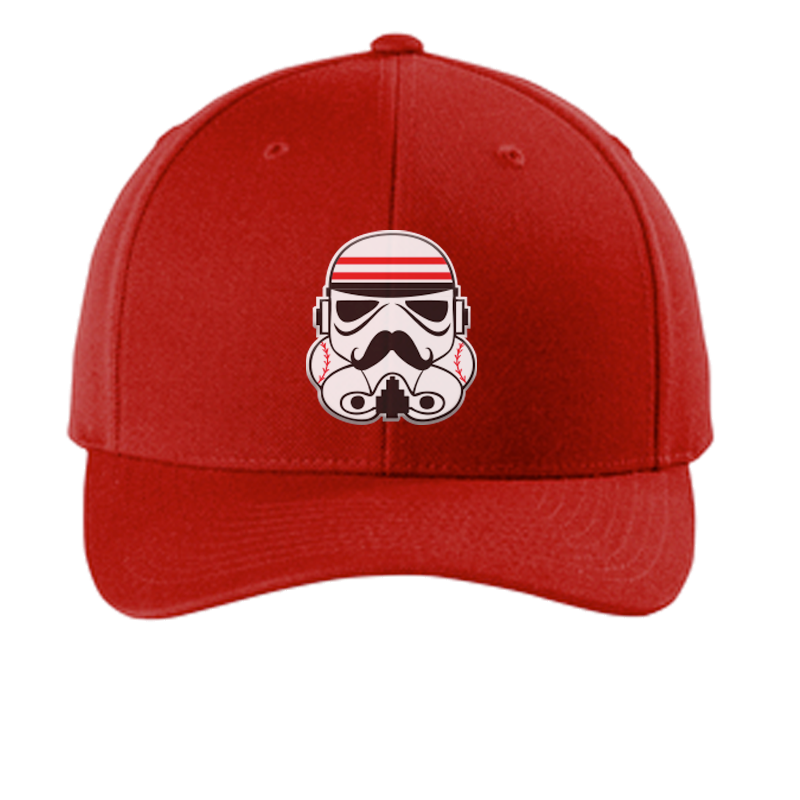 Redlegs Trooper Curved Bill Snapback Hat - Red - Cincy Shirts