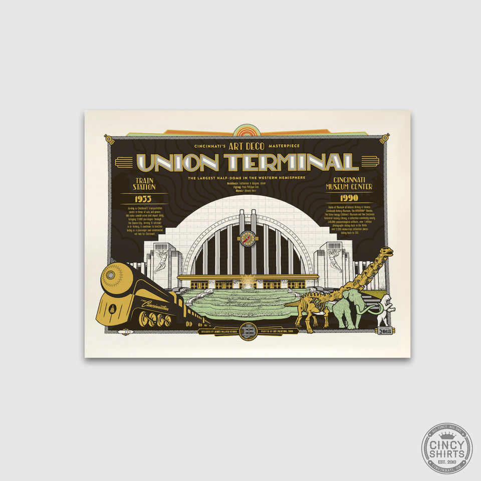 Union Terminal Print by James Billiter - Cincy Shirts