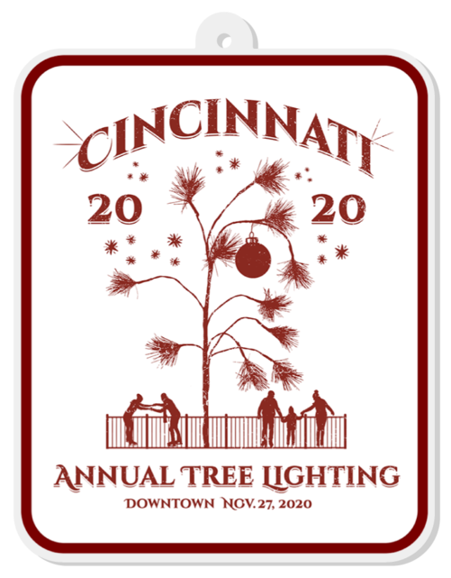 2020 Cincinnati Annual Tree Lighting Ornament - Cincy Shirts