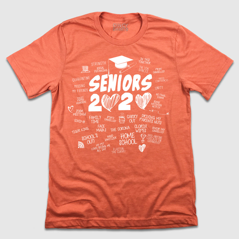 Seniors 2020 Doodles Tee - Cincy Shirts