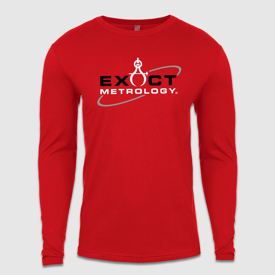 Exact Metrology Full Chest Logo Long Sleeve Tee - Cincy Shirts