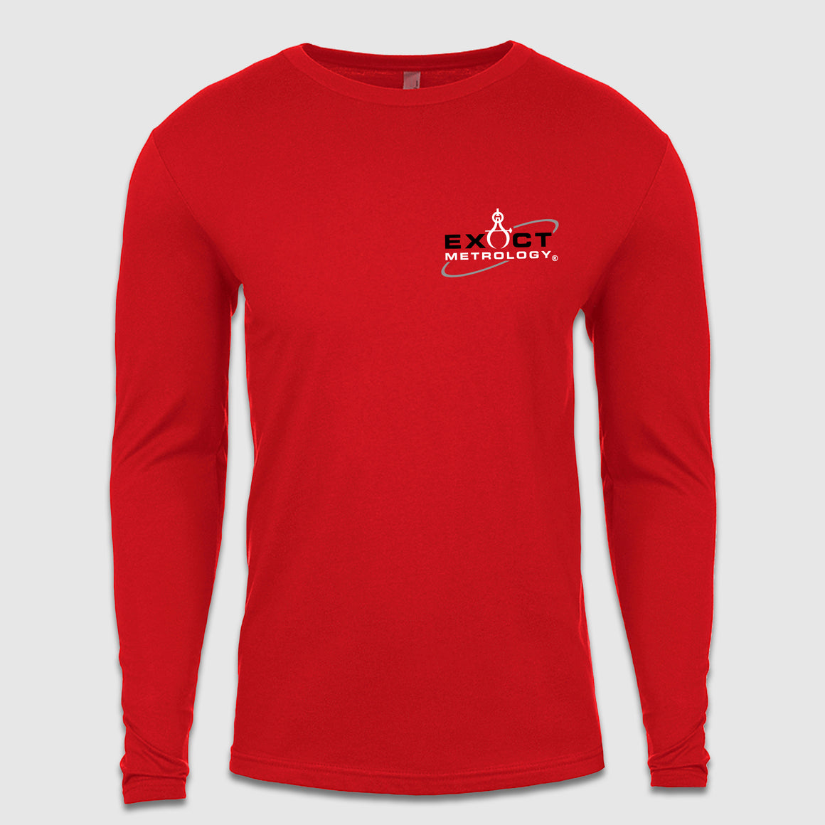 Exact Metrology Small Chest Logo Long Sleeve Tee - Cincy Shirts