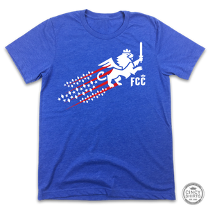 FC Cincinnati Red, White & Blue Streaking Lion - ONLINE EXCLUSIVE