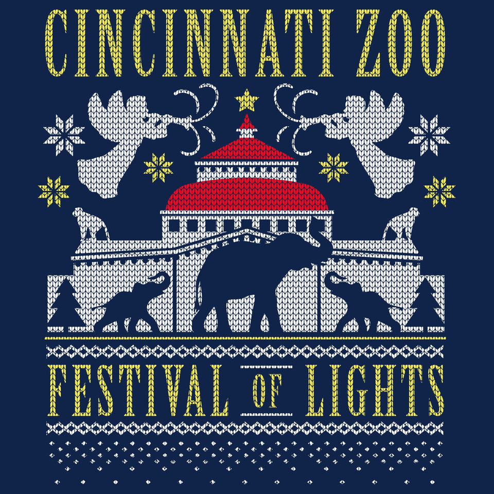 Cincinnati Zoo Festival of Lights Christmas Sweatshirt - Cincy Shirts
