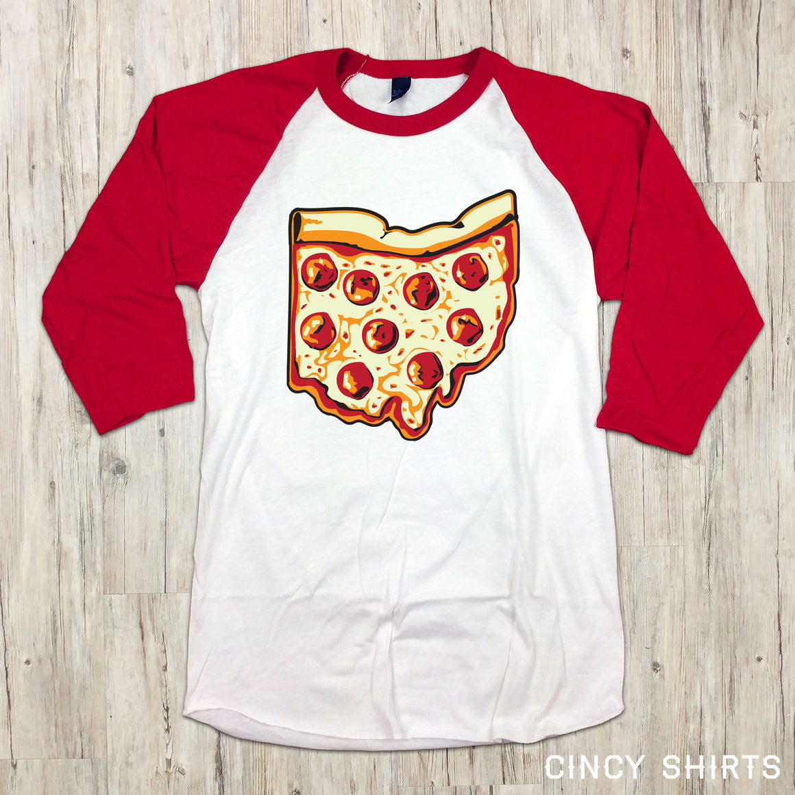 Pizza Ohio Raglan