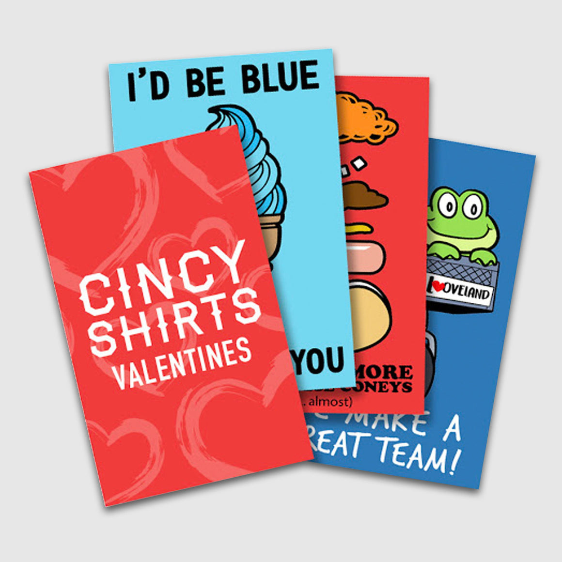 Cincinnati Themed Valentine's Day Cards - Cincy Shirts