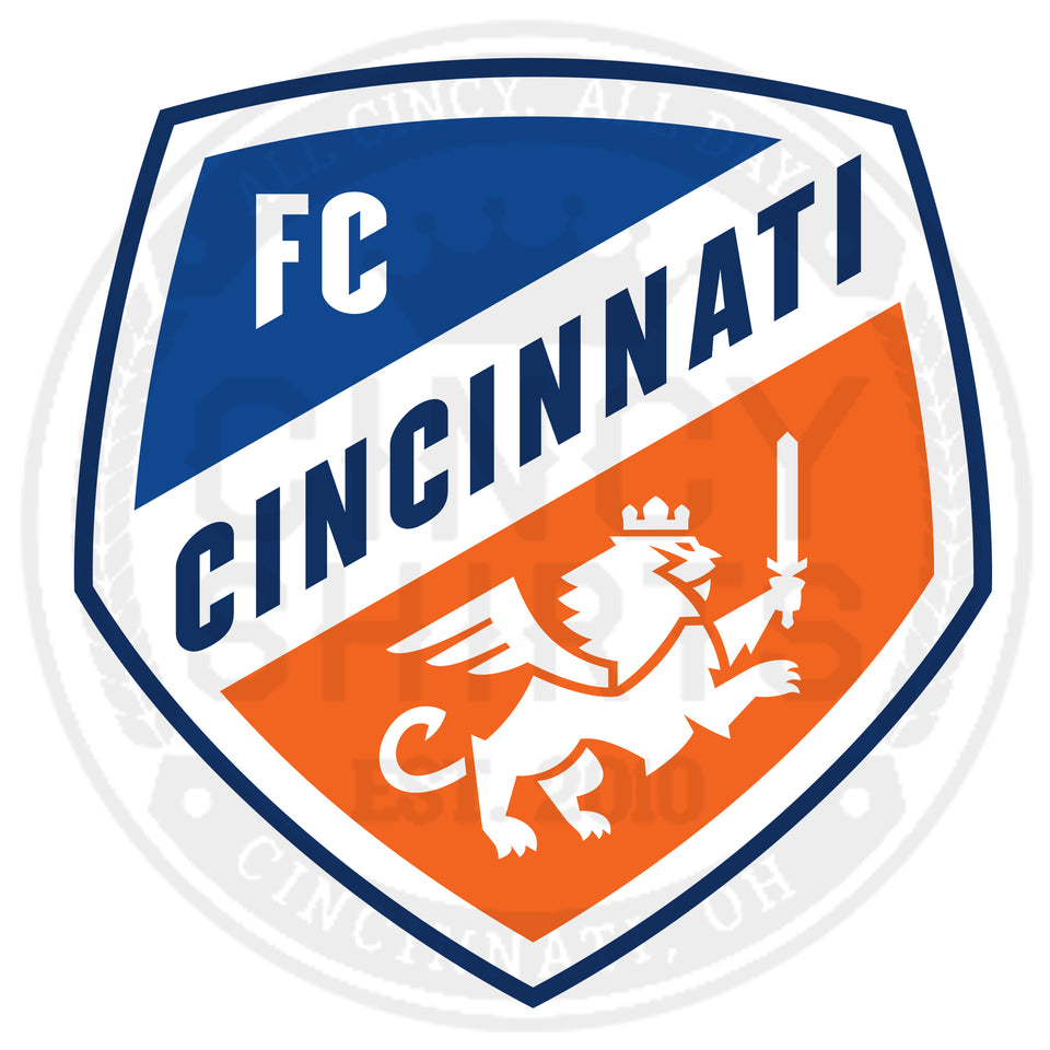 FC Cincinnati Shield Logo - White Out Edition - Cincy Shirts