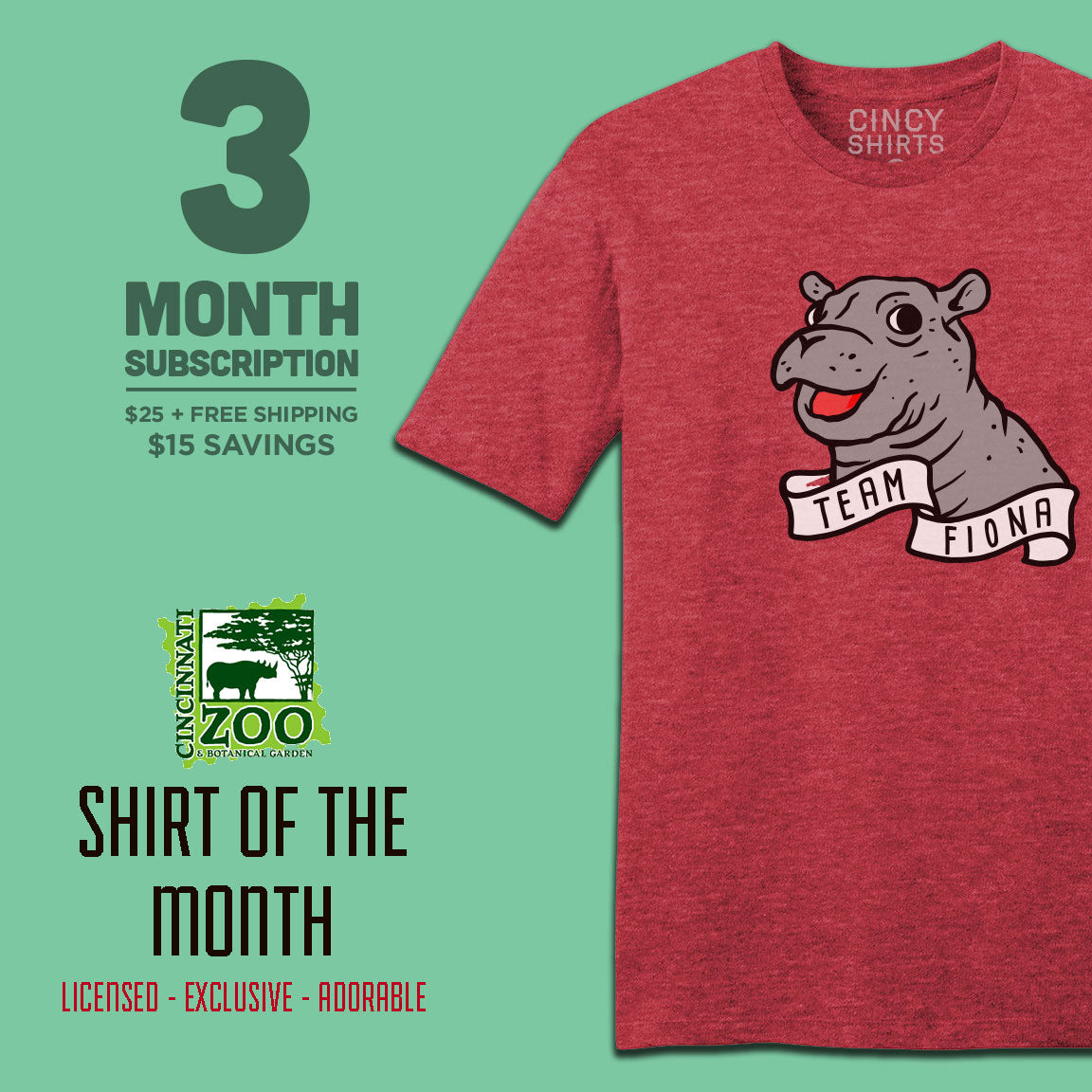 3-Month Cincinnati Zoo Shirt of the Month - Cincy Shirts