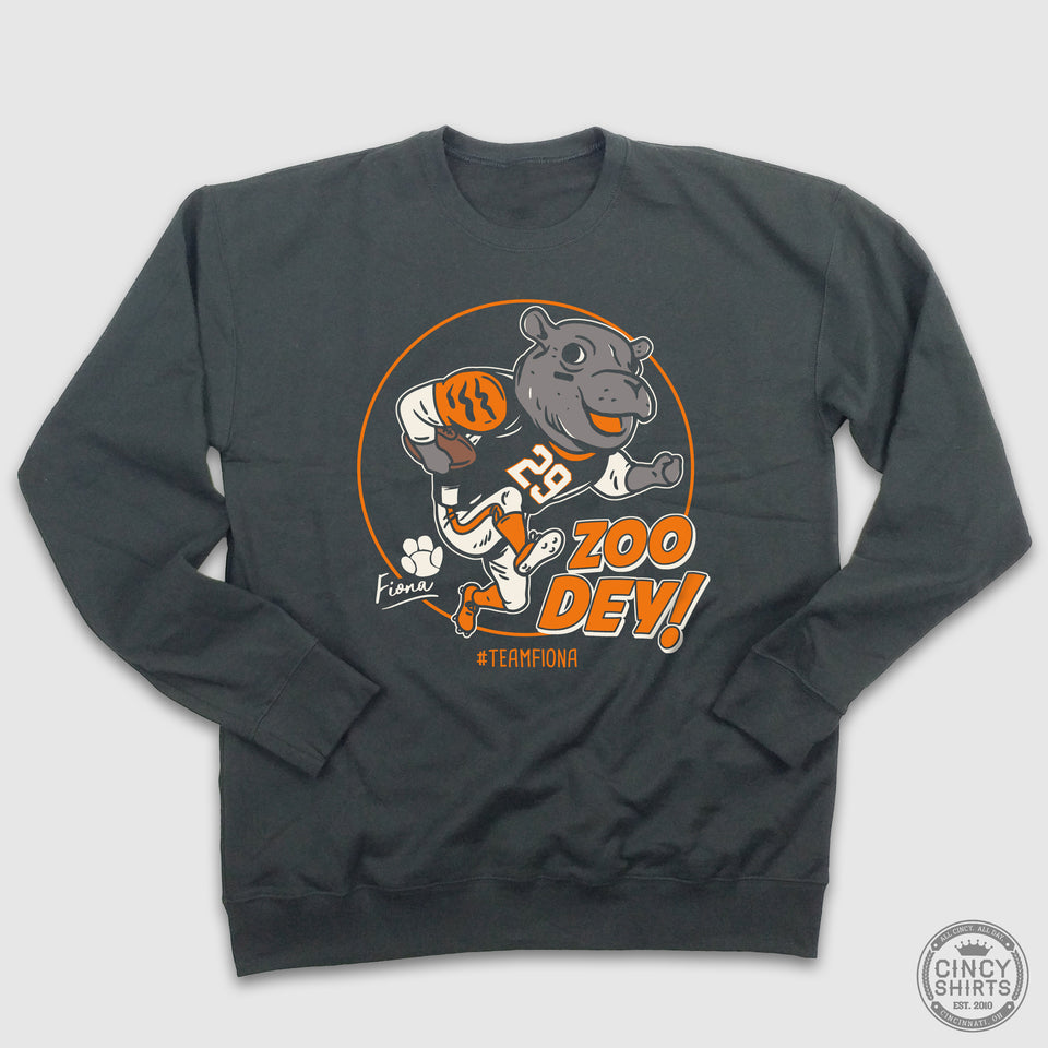Zoo Dey! - Team Fiona - Crewneck Sweatshirt - Cincy Shirts