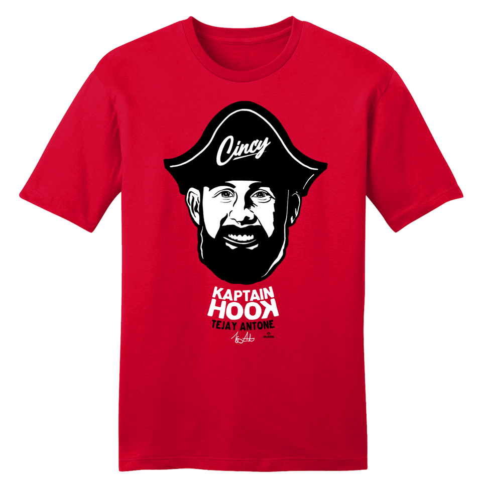 "Tejay Antone ""Kaptain Hook"" - Cincy Shirts"