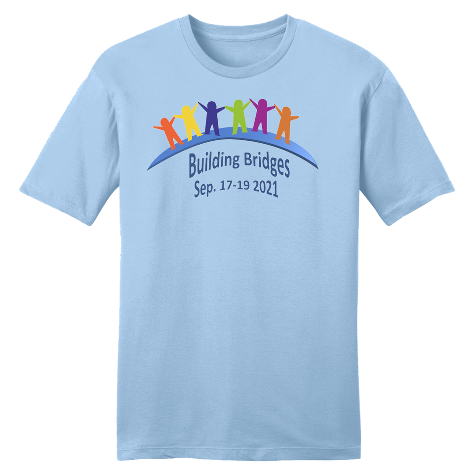 Building Bridges Ice Blue T-shirt