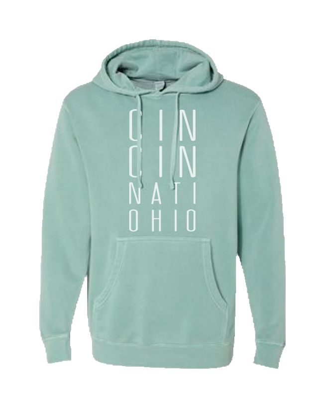 CIN CIN NATI Ohio Pigment Fleece Mint - Cincy Shirts