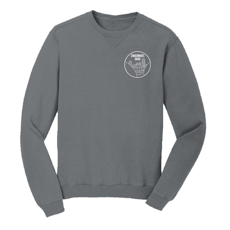 Cincy Circle Logo Crewneck Sweatshirt - Cincy Shirts
