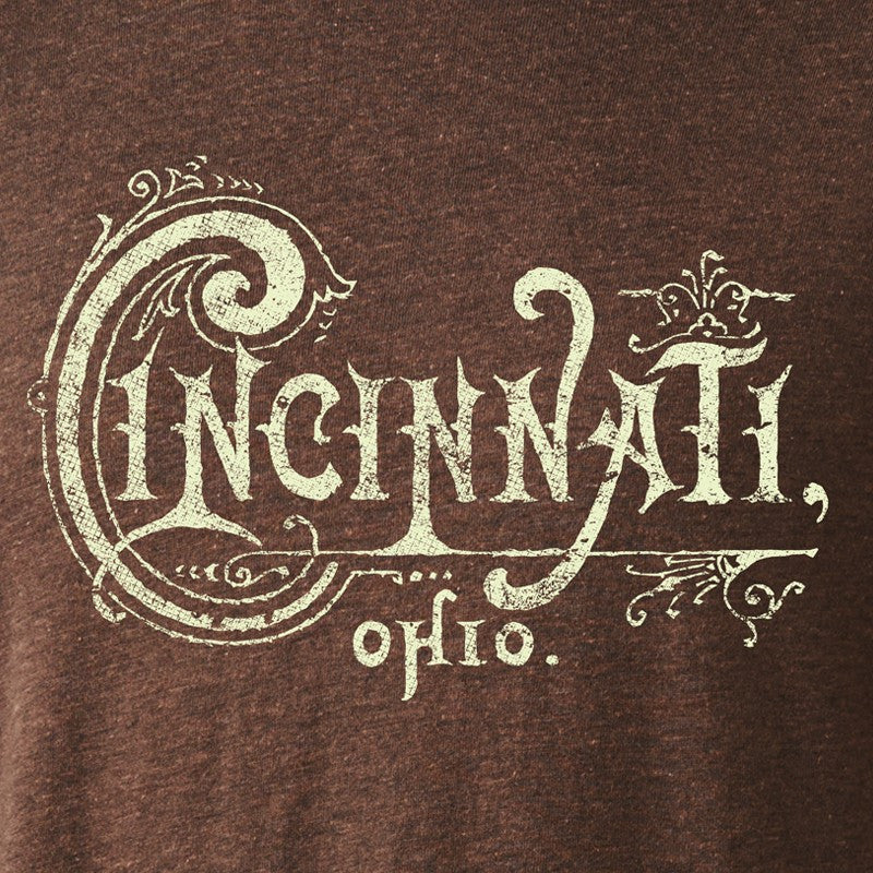 Vintage Cincinnati Typography Youth Tee - Cincy Shirts
