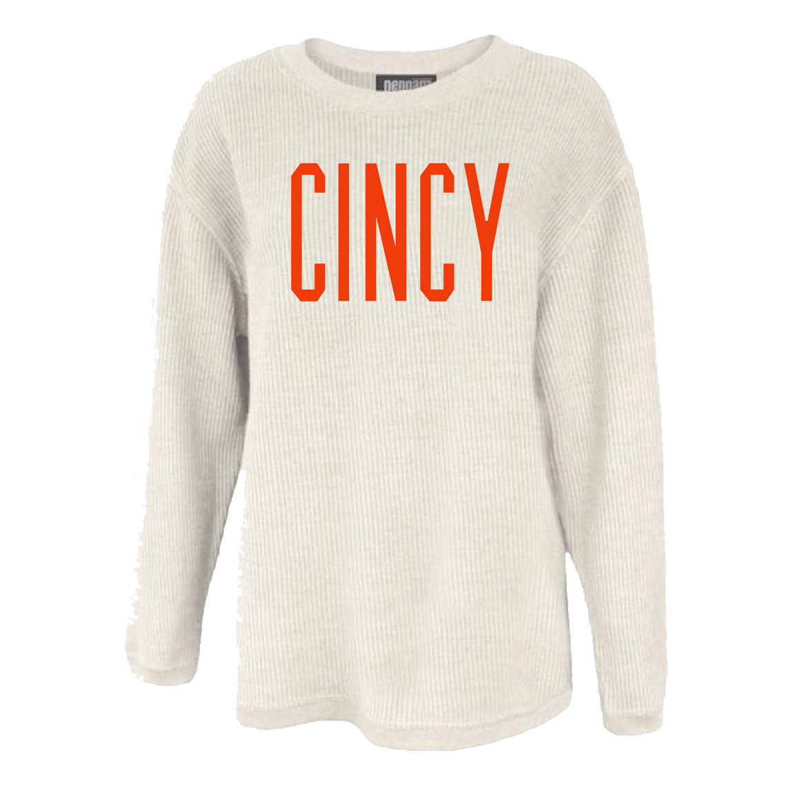 CINCY Corded Crew - Orange Ink - Cincy Shirts