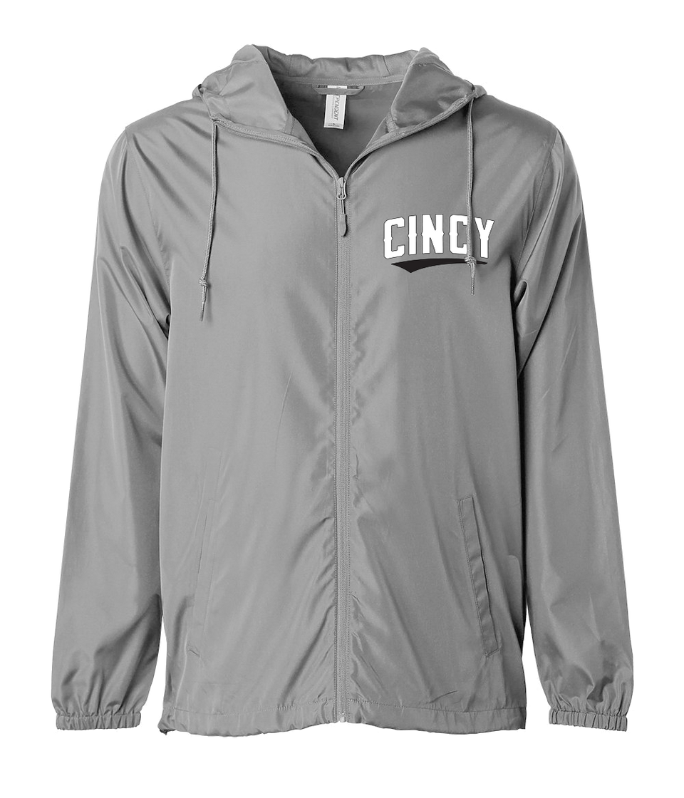 Cincy Black Swoop Windbreaker - Cincy Shirts