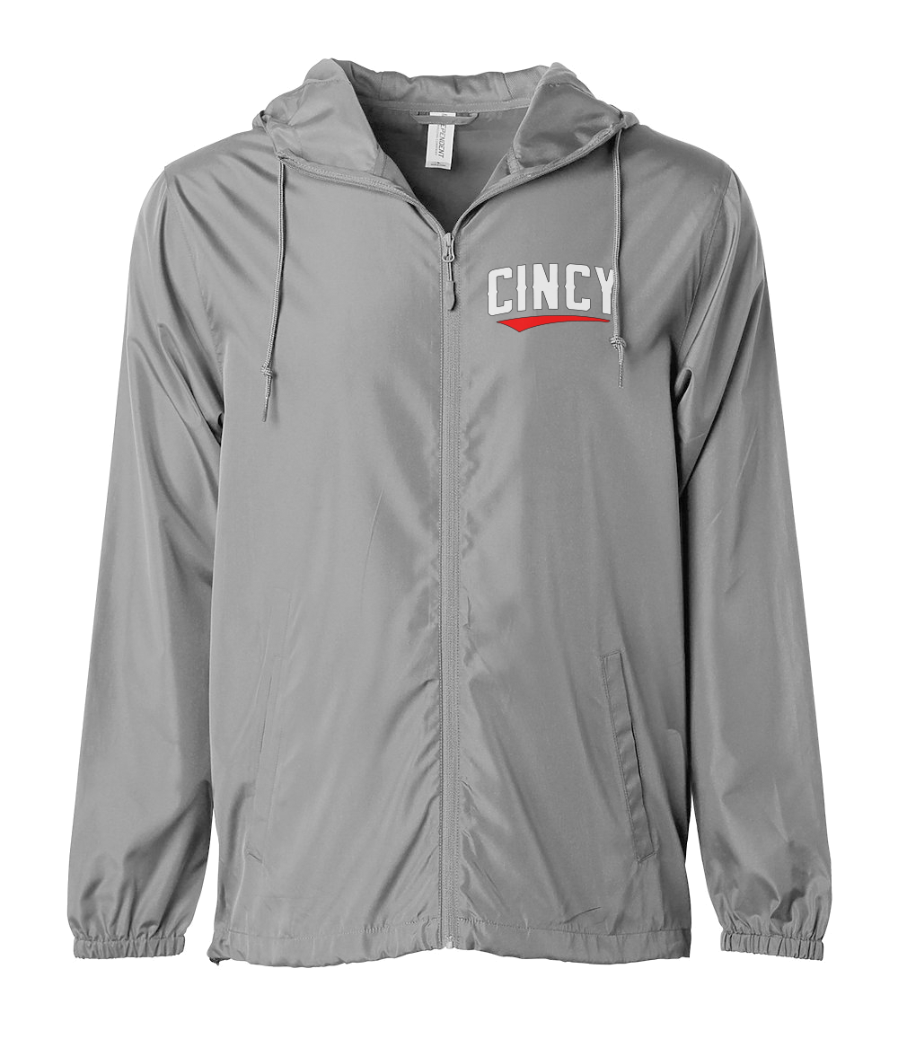 Cincy Red Swoop Windbreaker - Cincy Shirts