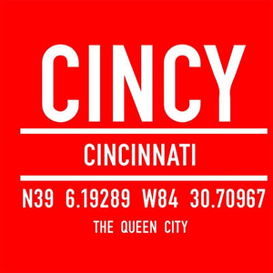 Cincy Latitude Unisex T-Shirt - Cincy Shirts