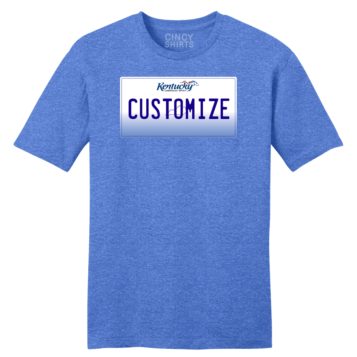 Kentucky License Plate Custom T Shirt - Cincy Shirts